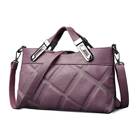 Sprnb Portable Satchel Bag Todos-Match Ocio Bolsa De Dama Moda,Azul Violet