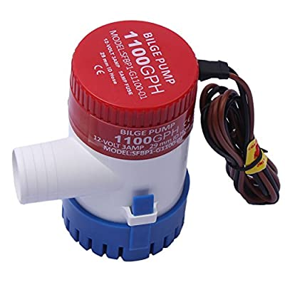 12V Boat Marine Plumbing DC Bilge Water Pump Submersible for Yacht RV SPA Pool