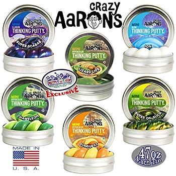 Amazon com: Crazy Aaron's Thinking Putty Mini Tin Complete