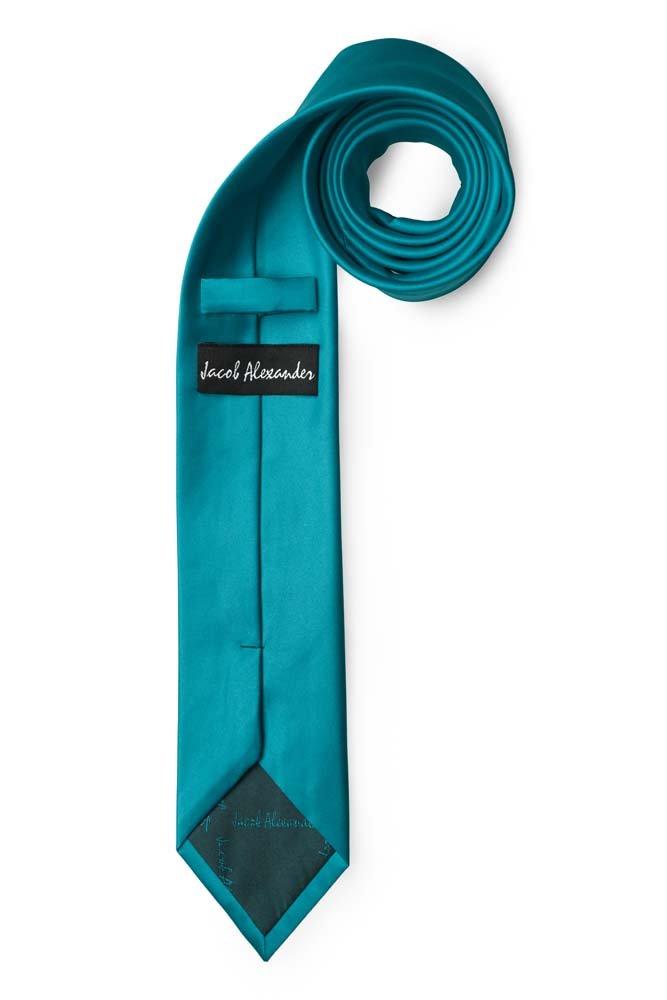 Jacob Alexander Mens Skinny Width 2 Solid Color Tie Navy
