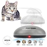 Volwco 2-in-1 Funny Sweeping Robot and Cat Teaser Toy, Automatic Robot Vacuum Cleaner, Cordless Home Electric Pet Hair Removal Machine Cat Toy