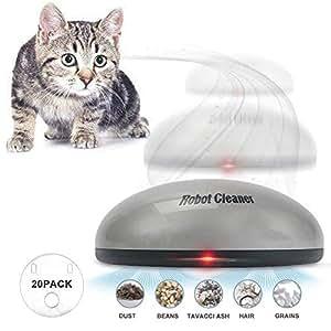Amazon.com: Volwco 2 en 1 divertido robot de barrido y gato ...