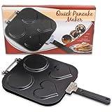 "Four Seasons General Merchandise 99021 Pancake Maker Pan with Handle, 9.75"", Black"