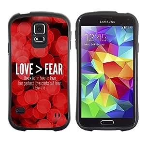 LASTONE PHONE CASE / Suave Silicona Caso Carcasa de Caucho Funda para Samsung Galaxy S5 SM-G900 / BIBLE Love > Fear - John 4:18