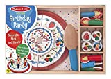 Melissa & Doug Learning Toy Birthday Party Cake Wooden Box 34 Pcs Pleyset Toy for Kids