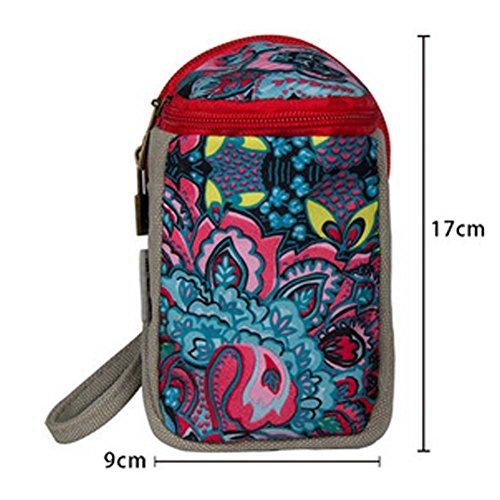 Monedero de la lona bolsa de la llave del paquete Sra Zero Creative forme el pequeño bonito regalo de la bolsa de