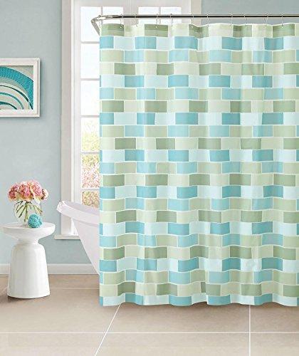 ALL FOR YOU 100 Safe PEVA Shower Curtain LINER 12 Hooks Included Blue