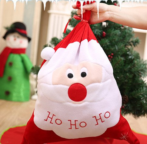 Zerowin Christmas Santa Claus Candy Bags Gift Bag Santa Sack Stocking Filler Bags Xmas Decoration Creative Home Party (Santa Claus) by Zerowin (Image #1)