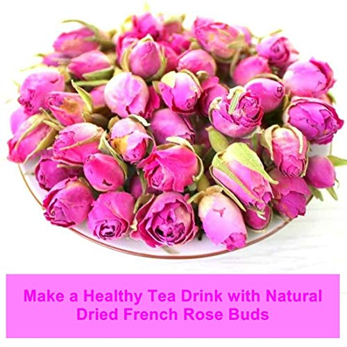 Dried Pink Flower Rose buds for Healthy Tea Drink – Imported Flower From France Suitable for Everyone (Loose 250g (8.8oz))