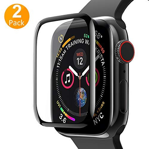 [2-Pack]ROITON for Apple Watch 1/2/3/4 Screen Protector 44mm, Full Coverage Tempered Glass,9H Hardness,Anti-Scratches,Anti-Fingerprint,Bubble Free,Screen Protector for iWatch Series 4 44mm