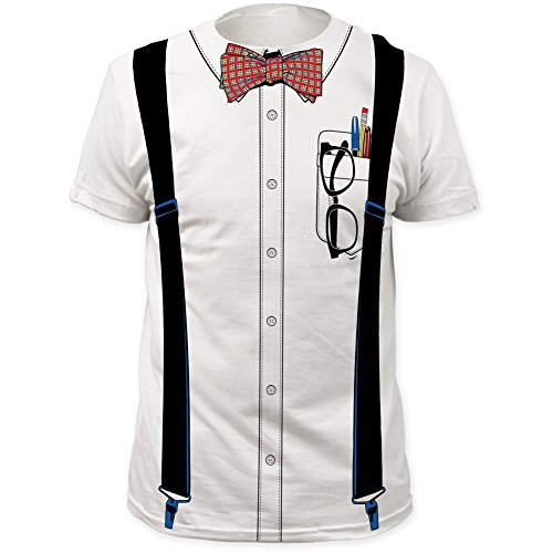 Impact Nerd Bowtie Glasses Pencil Geek Suspenders Costume Outfit Men 3XL T-Shirt ()
