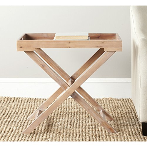 Safavieh American Homes Collection Leo Red Maple Accent Table - Maple Accent Table