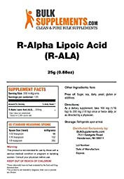 R-Alpha Lipoic Acid Powder (R-ALA) by Bulksupplements (25 grams) | 100% Pure Heart Healthy Antioxidant