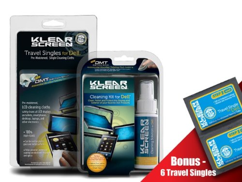 Klear Screen Dell Cleaning Kit and Dell Travel Singles Combo Pack