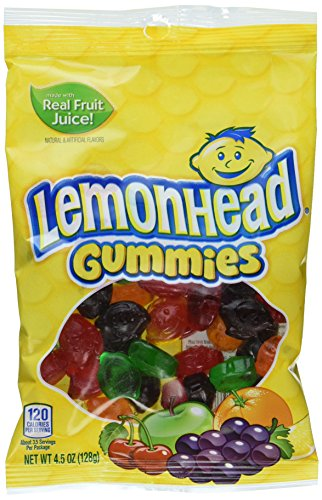 Lemonheads Gummy Candy, Lemon, 4.5 Ounce Bag