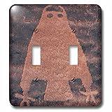 3dRose LSP_260267_2 USA, Utah, Owl Panel, Ancient Petroglyph Toggle Switch,