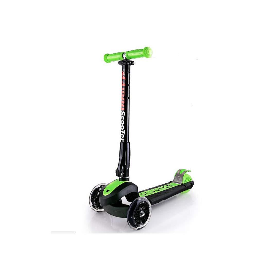 【希望者のみラッピング無料】 TLMYDD 青) スクーター子供三輪折りたたみスクーターフラッシュホイールベビースケート、58.6×89センチ B07NMH576K 子供スクーター (色 : 青) B07NMH576K (色 Green Green, ビューティーショップ ソフィア:2f7e756d --- a0267596.xsph.ru