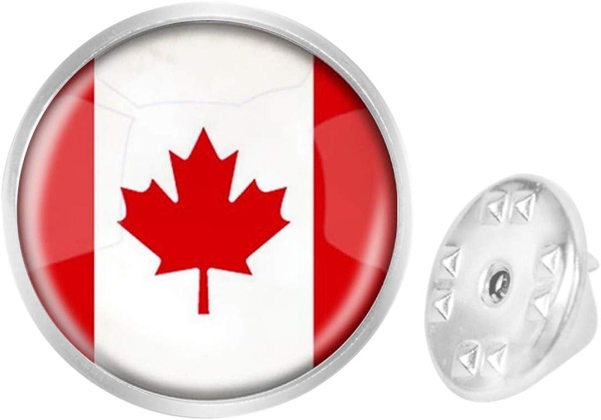 Custom Lapel Pin Brooches Canada National Flag Banquet Badge Pins Trendy Accessory Jacket T-Shirt Bag Hat Shoe