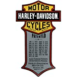 Harley Davidson Patented Motorcycles Tin Sign
