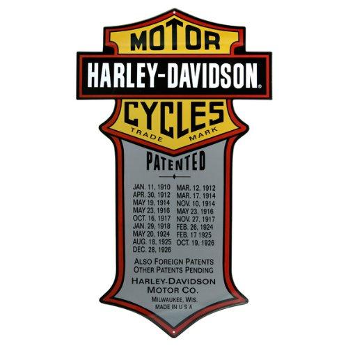 Cartel de Lata de Harley Davidson Patentado para ...