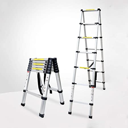 HUI Escalera Telescópica, Extensión Telescópica De Aluminio Escalera Alta Multifuncional para Loft, 330 Lb/150 Kg,4.4m-ATypeLadder: Amazon.es: Hogar