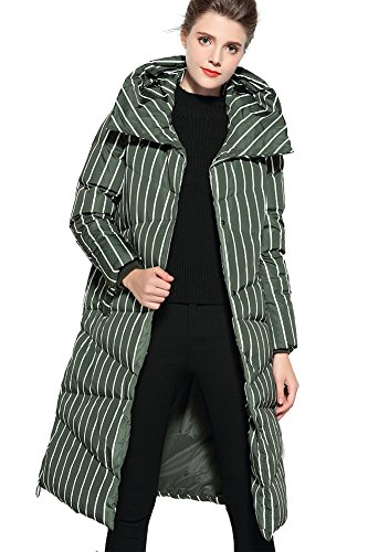 Queenshiny®Woman Green Jacket with Down Hood Mantel Winter Long FSqwFZ