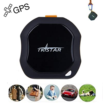 Personal GPS Tracker, Mini Portable GPS Tracker Tracking Device, Real Time Vehicle GPS Tracker, Waterproof & SOS Emergency for Kids Adults Elderly Pet Car Vehicle Bike Assets - TK1000: Sports & Outdoors