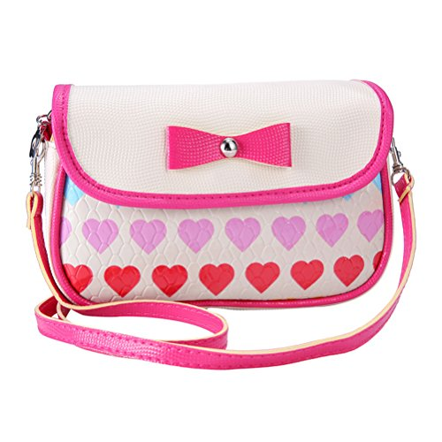 Donalworld Girl Small Bag Crossbody Bag Candy Bag Series 9 S White (Childrens Purse)