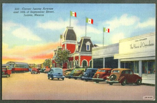 House of Oppenheim Juarez Av Mexico postcard 1940s