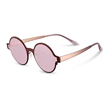 Z&HA Gafas De Sol Polarizadas para Mujer, Gafas Redondas Premium con Montura Redonda, Accesorios