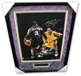 Kobe Bryant Signed Autograph 16X20 Photo Allen Iverson Lakers /24 Panini Framed