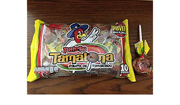 Amazon.com : 1 x Pavito Paleta Tamalona - Pavito Tamarind Big Lollipop 10 Pz Net Wt 900 gr : Grocery & Gourmet Food