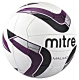 Mitre Malmo Training Football - White/Purple/Black, Size 5 - BAG OF 10 BALLS