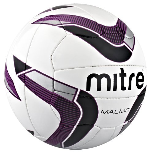 Mitre Malmo Training Football - White/Purple/Black, Size 5 - BAG OF 10 BALLS by mitre (Image #1)