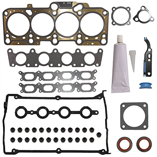 2002 Golf Cabriolet (Head Gasket Set Kit Engine Cylinder Fit HS26182PT S71193 for Audi A4 Base Cabriolet TT Quattro Volkswagen VW Beetle GL GLS GLX Golf GTI Jetta GLI Passat 1997-2002 2003 2004 2005 2006 by DOICOO)
