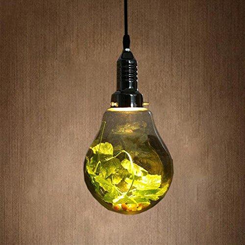 Childrens Light Pendant Glass (WY Scandinavian Cafe Coffee House Glass Bulb LED Pendant Light Restaurant Living Room Pastoral Ball Green Pendant Lamp)