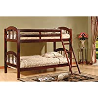 Twin over Twin Arched Bunk Bed Finish: Esprit Cherry