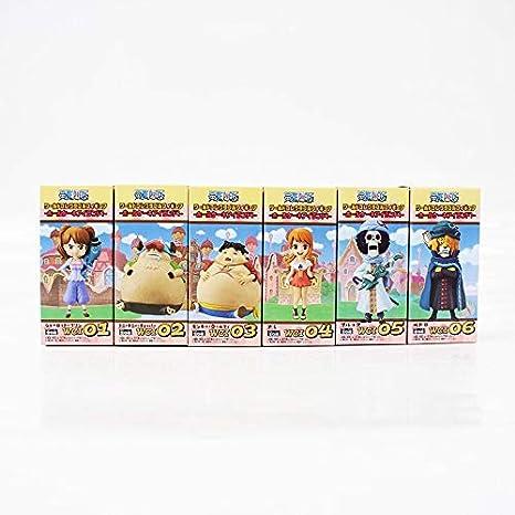 6 unids/Lote One Piece Charlotte Pudding Luffy Sanji Nami ...