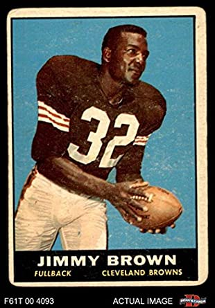 Jim Brown Football >> Amazon Com 1961 Topps 71 Jim Brown Cleveland Browns Fb