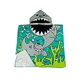 Dynamic Panda Shark Hooded Beach Towel for Children, For Bath, Shower, Pool, Swim, Hooded Poncho Bathrobe, Ultra Soft Microfiber, Boys and Girls Ocean Towel
