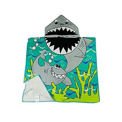 833a8a7e5a Dynamic Panda Shark Hooded Beach Towel for Children, For Bath, Shower, Pool,