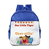XJBD Custom Personalized Daniel Tiger Children School Bagpack For 1-6 Years Old RoyalBlue