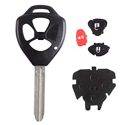 Heart Horse Keyless Entry Remote Key Shell Fit Toyota RAV4 Yaris Venza Matrix Scion 3 Buttons Key Fob Replacement for HYQ12BBY, GQ4-29T, MOZB41TG (Shell and Blank Key Blade ONLY): Automotive