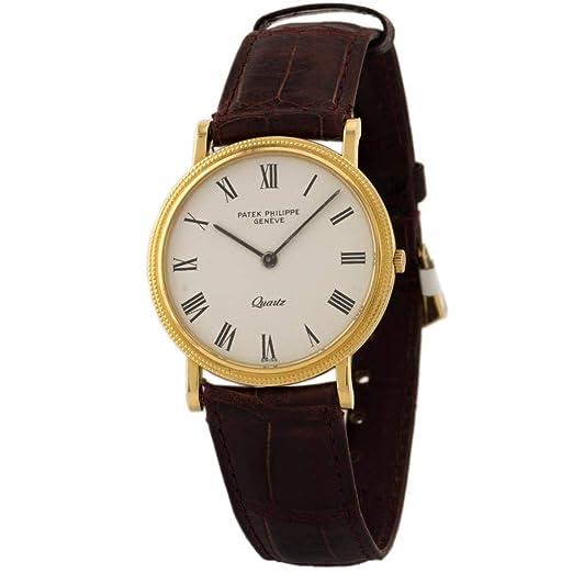 PATEK PHILIPPE CALATRAVA swiss-quartz Mens Reloj 3845 - 1J (Certificado) de segunda mano: Patek Philippe: Amazon.es: Relojes
