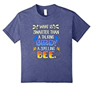 Funny Spelling Bee Jokes Shirt Talking Bird Tee