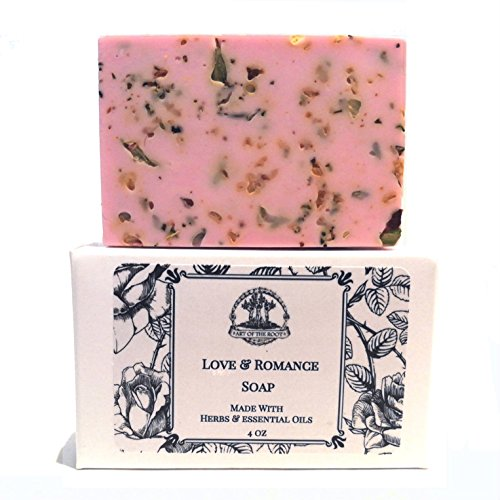 Love & Romance Shea Herbal Soap Bar Handmade for New Love, Relationships & Commitment Wiccan Pagan Hoodoo