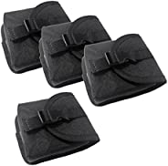 """MonkeyJack 4pcs Replacement Scuba Dive Weight Belt Pocket Pouch with Quick Release Buckle 5.5"""" x"""
