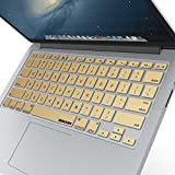 "iBenzer Basic Macaron Series Keyboard Cover Silicone Rubber Skin for Macbook Pro 13"" 15"" 17"" (with or w/out Retina Display) Macbook Air 13"" and iMac Wireless Keyboard - Gold CA-MKC01GD"