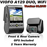 Viofo A129 Duo - Dual Channel WiFi Dash Camera, UK version Sony Starvis (A129 Dual + 64GB)