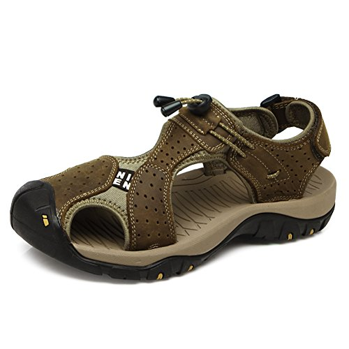 Leather Sandals Closed Slipper Gomnear